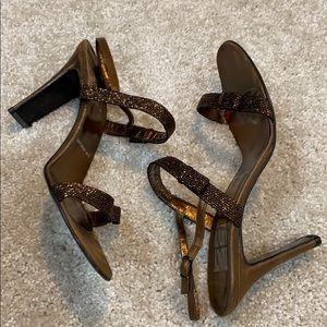 ‼️Nancy Geist NYC Brown Sequin Heels